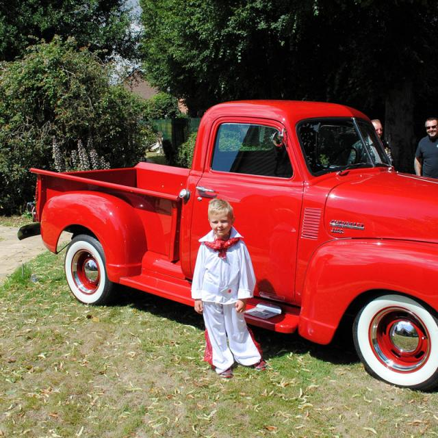 Boy with a truck