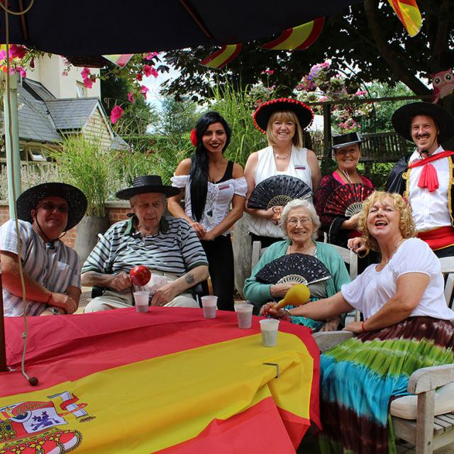 Residents enjoying the Spanish themed day