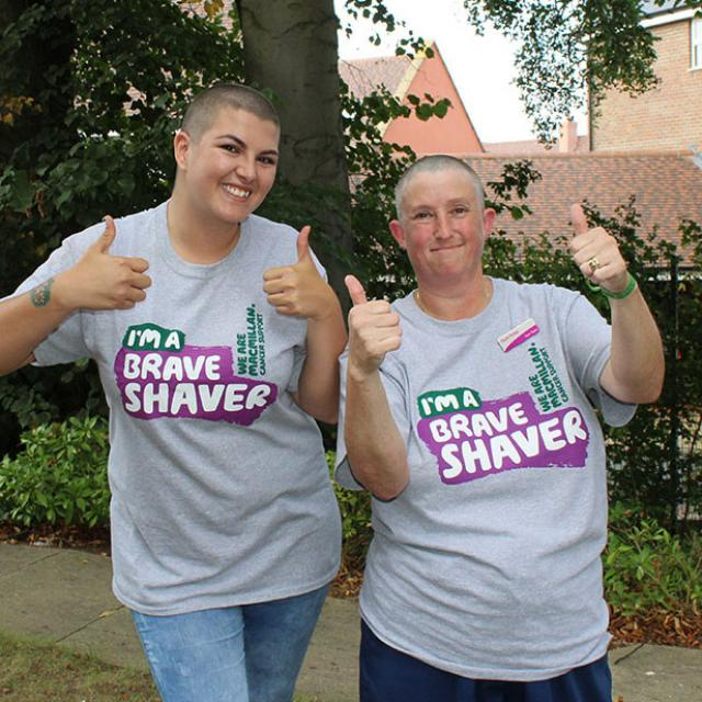 Yasmin and Dawn after raising cash for Macmillan